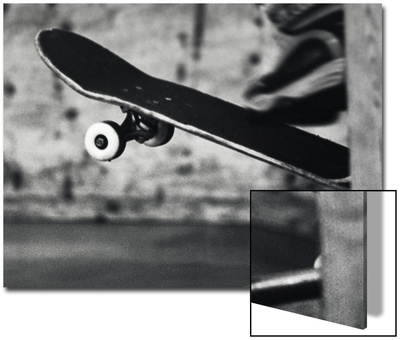 Close-up Monochromatic Image of a Skateboard Posters