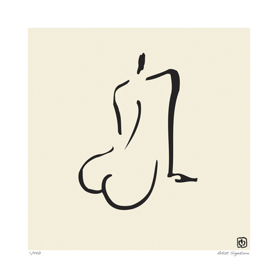 Abstract Female Nude IV Limited Edition