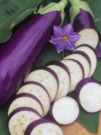 Eggplant, Neon Photographic Print by Wally Eberhart