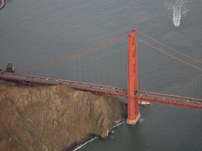 North Buttress of Golden Gate Bridge, California Photographic Print by Marli Miller