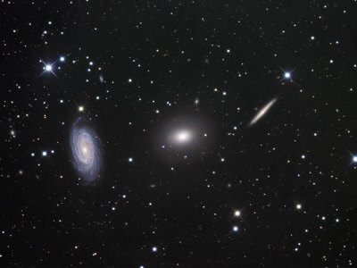 Ngc 5985, 5982, and 5981 Galaxies in Draco Photographic Print by Robert Gendler