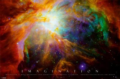 Imagination Nebula - Albert Einstein Quote Photo