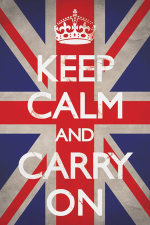 Forhold deg rolig og gå videre (Keep Calm and Carry On) Plakat