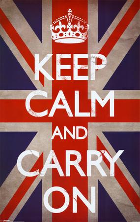 """Keep Calm…"" W/ Union Jack Background"