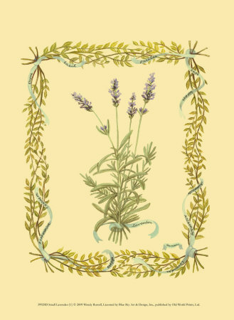 Lavender Print by Wendy Russell