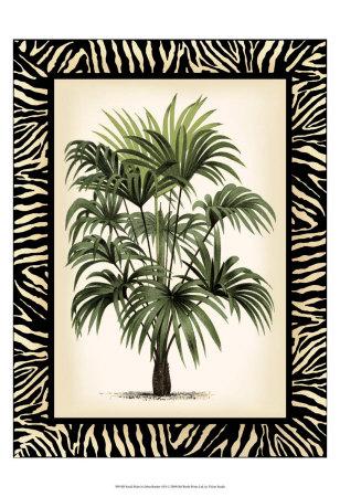 Palm in Zebra Border I Prints