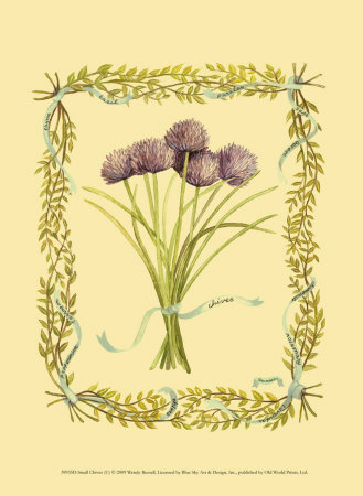 Chives Art by Wendy Russell