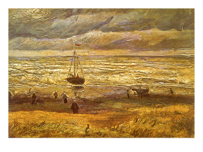 Sailboat in Storm, 1882 Giclee Print