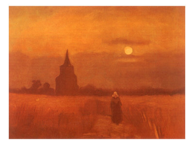 The Old Tower in the Fields, 1884 Giclee Print by Vincent van Gogh