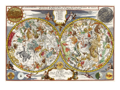 Celestial Chart, 1702 Giclee Print