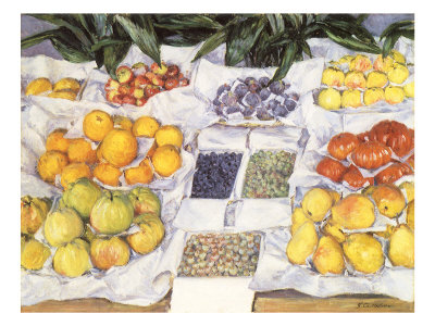 Fruit Displayed on a Stand, 1881 Giclee Print by Gustave Caillebotte