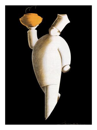 Art-Deco Chef, 1927 Giclee Print by Federico Seneca