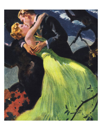 Romantic Kiss Giclee Print