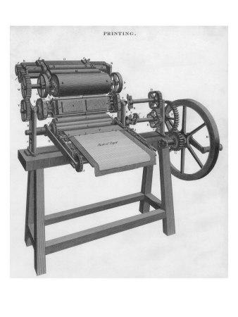 Printing Press Giclee Print
