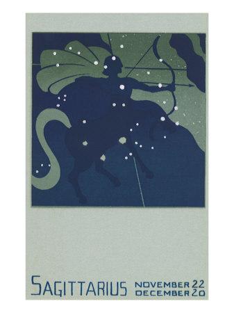 Sagittarius the Archer Giclee Print