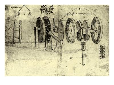 View of a Hoist Giclee Print by  Leonardo da Vinci