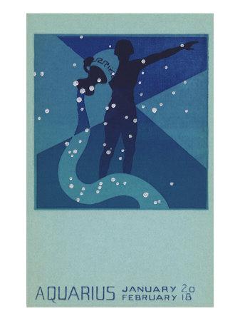 Aquarius, Water Bearer Giclee Print