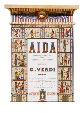 Aida Score Title Page, 1872 Giclee Print
