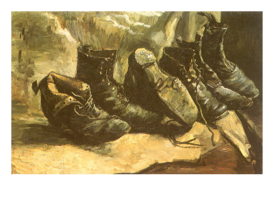 Line of Old Boots, 1886 Giclee Print by Vincent van Gogh
