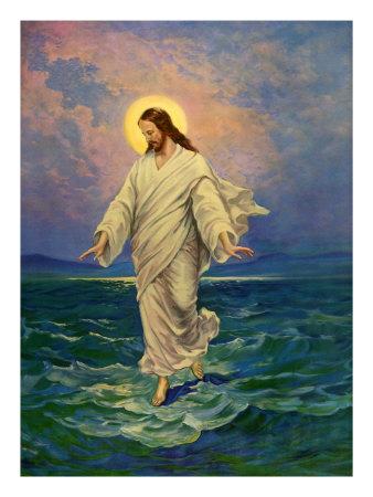 Christ Walks on Water Giclee Print
