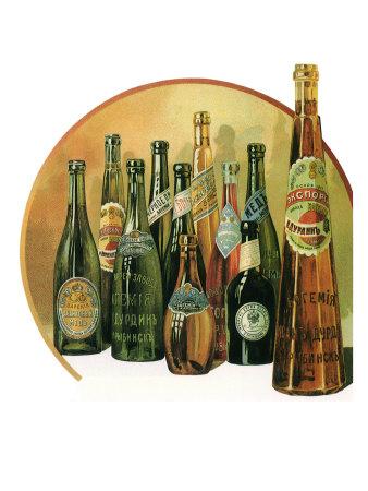 Russian Bottle Drinks Giclee Print