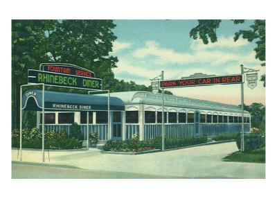 Rhinebeck Diner Giclee Print