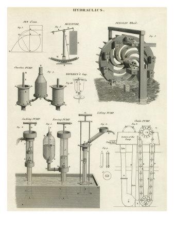 Hydraulic Systems Giclee Print
