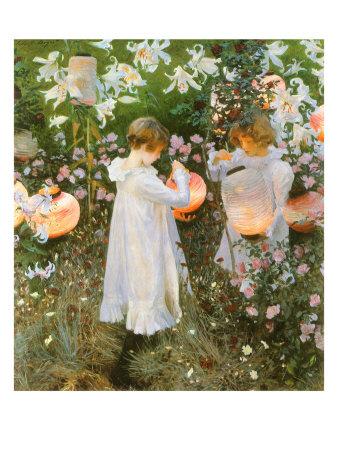 Chinese Lanterns, Girls, 1885 Giclee Print by John Singer Sargent