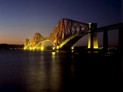 Forth Rail Bridge, Built Between 1883 and 1890, Fife, Scotland Photographic Print by Patrick Dieudonne