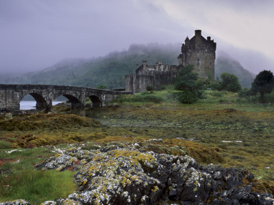 Eilean Donan Castle, Standing Where Three Lochs Join, Dornie, Highland Region, Scotland, UK Photographic Print by Patrick Dieudonne