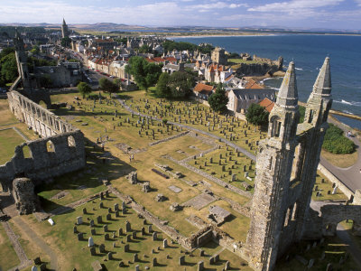Ruins of St. Andrews Cathedral, Dating from the 14th Century, St. Andrews, Fife, Scotland Photographic Print by Patrick Dieudonne