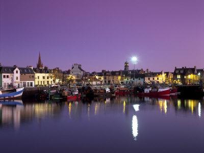Stornoway Harbour at Dusk, Lewis, Outer Hebrides, Scotland, United Kingdom, Europe Photographic Print by Patrick Dieudonne