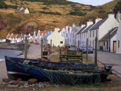 Small Fishing Village of Pennan, North Coast, Aberdeenshire, Scotland, UK Photographic Print by Patrick Dieudonne