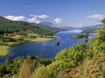 Queen's View, Famous Viewpoint over Loch Tummel, Near Pitlochry, Perth and Kinross, Scotland, UK Photographic Print by Patrick Dieudonne