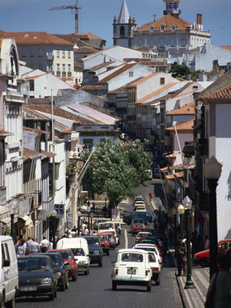 Main Street in Angra Do Heroismo, Terceira, Azores, Portugal, Atlantic, Europe Photographic Print by Ken Gillham