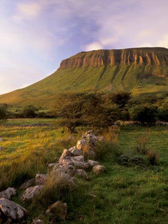 Benbulben at Sunset, Approximately 500M, Near Sligo, County Sligo, Connacht, Republic of Ireland Photographic Print by Patrick Dieudonne