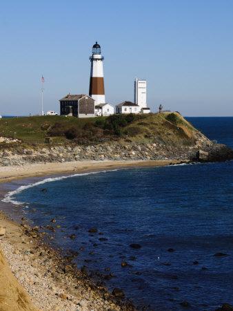 Montauk Point Lighthouse, Montauk, Long Island, New York State, USA Photographic Print by Robert Harding