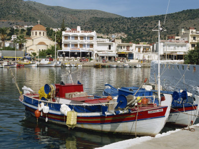 Elounda Near Agios Nikolas, Crete, Greek Islands, Greece, Europe Photographic Print by Harding Robert