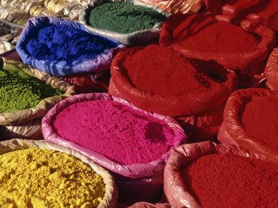 Dyes for Sale, Kathmandu, Nepal Photographic Print by Gavin Hellier