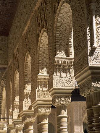 Patio De Los Leones, Palacio Nazaries, Alhambra, Granada, Andalucia, Spain Photographic Print by Tomlinson Ruth