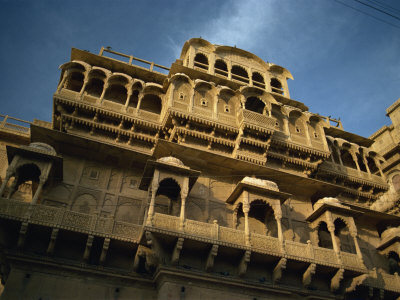 Fort Palace Built by Rawal Jaisal in 1156, Jaisalmer Fort, Jaisalmer, Rajasthan State, India Photographic Print