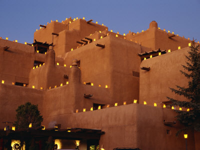 Farolitos at Loretto During the Christmas Season, at Santa Fe, New Mexico, USA Photographic Print by Westwater Nedra