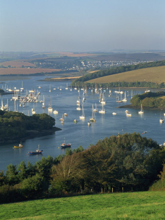 View over the Kingsbridge Estuary from East Portlemouth, Salcombe, Devon, England, United Kingdom Photographic Print by Tomlinson Ruth
