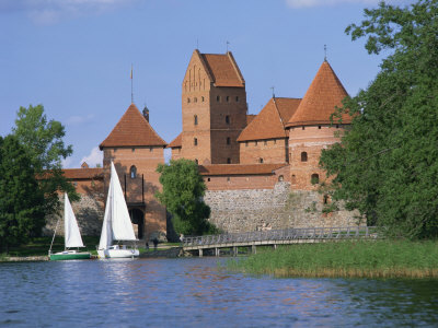 Trakai Castle in Lithuania, Baltic States, Europe Photographic Print by Richardson Rolf
