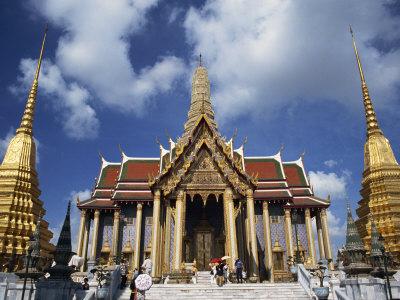 Royal Pantheon at Wat Phra Keo in the Grand Palace, Bangkok, Thailand, Southeast Asia Photographic Print by Tomlinson Ruth