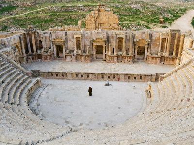 South Theatre, Jerash, Roman City of the Decapolis, Jordan, Middle East Photographic Print by Schlenker Jochen