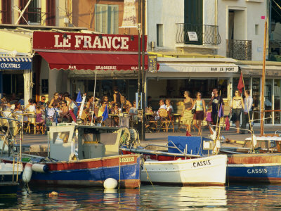 View across the Harbour in the Evening, Cassis, Bouches-Du-Rhone, Cote D'Azur, Provence, France Photographic Print by Tomlinson Ruth