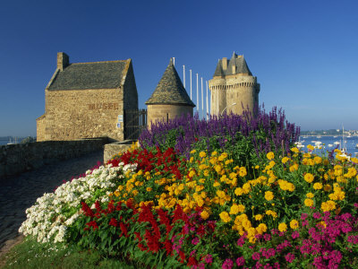 View Towards the Solidor Tower in St. Servan, St. Malo, Ille-et-Vilaine, Brittany, France, Europe Photographic Print by Tomlinson Ruth