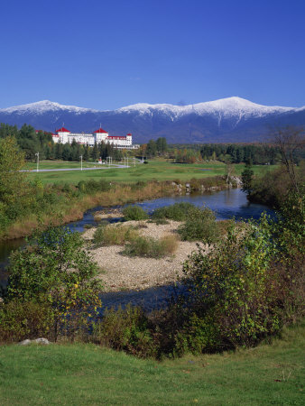 Hotel Below Mount Washington, White Mountains National Forest, New Hampshire, New England, USA Photographic Print by Rainford Roy