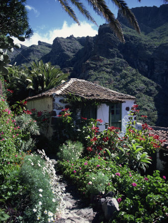 Small Village House in Masca, Tenerife, Canary Islands, Spain, Europe Photographic Print by Tomlinson Ruth